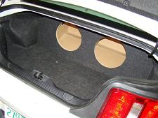 2011-2014 Ford Mustang Coupe Subwoofer Enclosure
