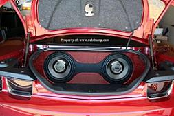 2012-2015 Camaro Trunk Dual Subwoofer Box Two-Tone Vinyl Sub Box