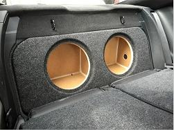 2015-2018 Ford Mustang Coupe Subwoofer Enclosure