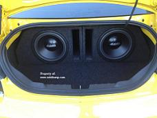 2010-2014 Camaro Trunk Rear Fire Dual 12 Ported Sub Box *New*