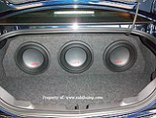 2010-2015 Camaro Triple 10 Subwoofer Box