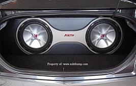 2010-2011 Camaro Trunk Dual Subwoofer Box  Two-Tone Vinyl Sub Box