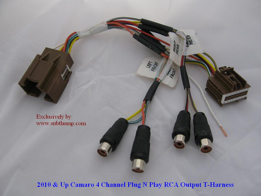 5G-X3RCA Camaro Sub Amp T-Harness by Subthump.com