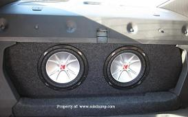 2016-2020 Camaro LT//LS//SS Coupe Dual 12 Front Fire Subwoofer Box