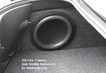 2010 2015 camaro ls lt ss zl1 drivers side stealth enclosure by subthump rh subthump com