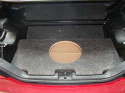 Mercedes Benz SLK 1998-2003 Subwoofer Enclosures with Amp mount