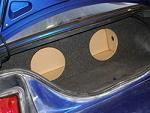 1994-2004 Ford Mustang Coupe Subwoofer Enclosure