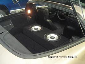 *New* C4 Corvette Dual 10 Upfire Sub Enclosure