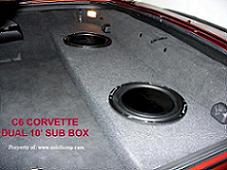 C6 Corvette Convertible Dual 10 Upfire Sub Enclosure