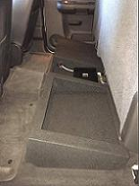 2007-2013 GM Crew Cab Single Downfire Box With Amp Shelf And Cubby Storage
