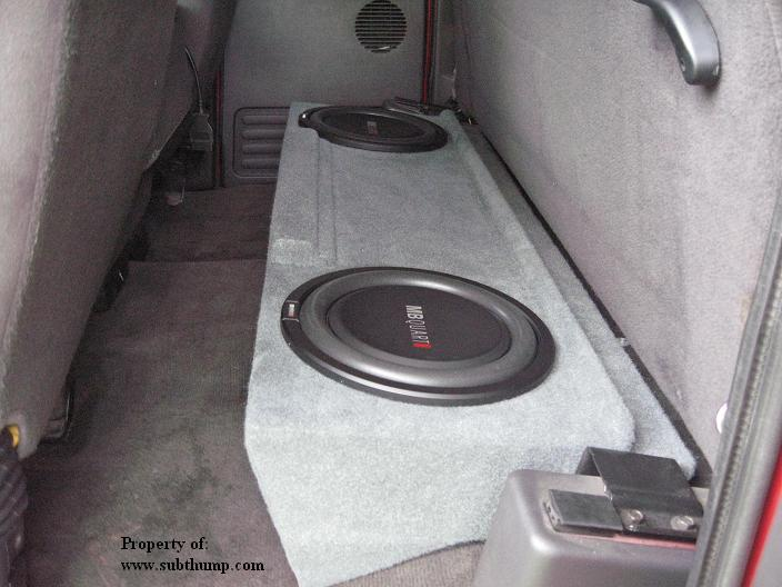 Extended Cab Dual Sub Box