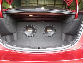 2013-2018 Ford Fusion Dual 10/12 Subwoofer box