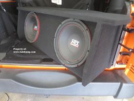2007-2018 Jeep Wrangler Front Fire Sub Enclosure w/Amp Shelf *Best Seller*