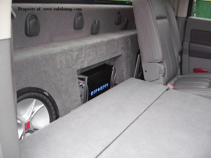06 & Up Dodge Ram Mega Cab Dual Sub Box With Amp Space Deep Heavy Duty