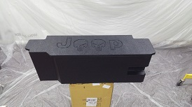 1987-2006 Jeep Wrangler Limited Edition Dual 10  Front Fire Sub Enclosure Bedliner With Skull Logo